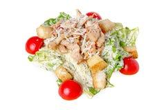 Caesar Salad mit Huhn Stockbild