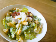 Caesar salad placed Royalty Free Stock Images