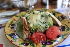 Caesar salad on a plate Royalty Free Stock Photos