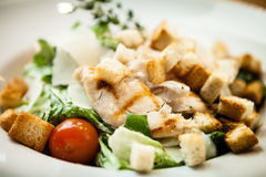 Caesar salad on a plate Royalty Free Stock Photos