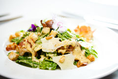 Caesar salad on a plate Royalty Free Stock Photo