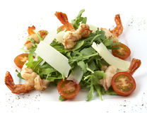 Caesar salad with prawns Stock Images