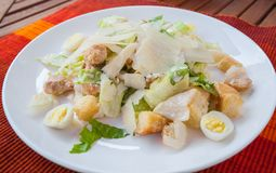 The Caesar salad Royalty Free Stock Images