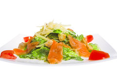 Caesar salad with salmon Stock Photography