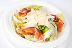 Caesar salad with salmon Royalty Free Stock Image