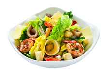 Caesar salad , saved clipping path Royalty Free Stock Images