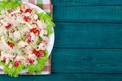 Caesar Salad on a serving plate Stock Photography