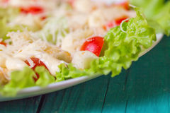 Caesar Salad on a serving plate Royalty Free Stock Image