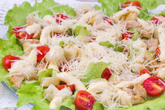 Caesar Salad on a serving plate Royalty Free Stock Photo
