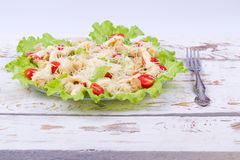 Caesar Salad on a serving plate Royalty Free Stock Photos