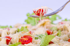 Caesar Salad on a serving plate Stock Photo