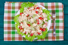 Caesar Salad on a serving plate Stock Photos