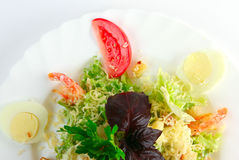 Caesar salad with shrimp Royalty Free Stock Photos