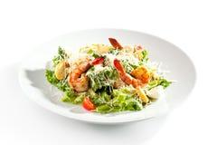 Caesar Salad with Shrimp Stock Photos