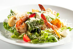 Caesar Salad with Shrimp Stock Photo