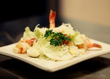 Caesar salad with shrimp Royalty Free Stock Photo