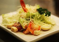 Caesar salad with shrimp Stock Photography