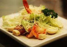 Caesar salad with shrimp Stock Photography