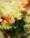 Caesar salad with shrimp Stock Images