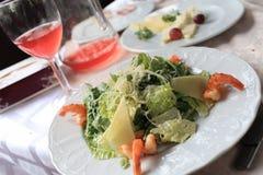 Caesar salad with shrimps Royalty Free Stock Photos
