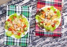Caesar Salad with shrimps on an Stock Photography