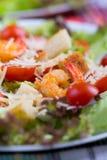 Caesar Salad with shrimps on an Royalty Free Stock Photos