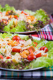 Caesar Salad with shrimps on an Stock Image