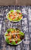 Caesar Salad with shrimps on an Royalty Free Stock Photo