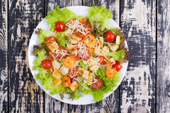 Caesar Salad with shrimps on an Royalty Free Stock Images