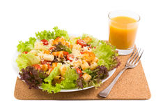 Caesar Salad with shrimps on a Royalty Free Stock Image