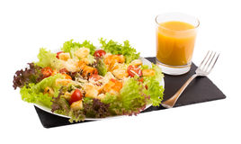 Caesar Salad with shrimps on a Stock Images