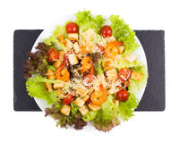Caesar Salad with shrimps on a Royalty Free Stock Photos