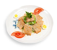 Caesar salad with slices of tuna Royalty Free Stock Images