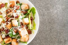 Caesar salad on table. Healthy food style Stock Photos