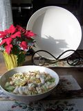 Caesar salad to serve - vertical Royalty Free Stock Images
