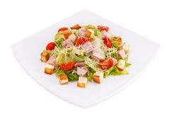 Caesar Salad. On a white background Royalty Free Stock Photos