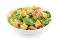 Caesar salad on white background. Royalty Free Stock Image