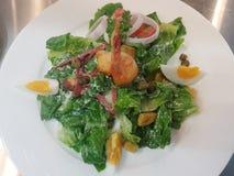 Caesar Salad on white plate Royalty Free Stock Photo