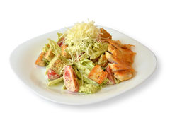Caesar-Salat auf Weiß lokalisiertem Hintergrund Lizenzfreie Stockfotografie