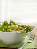 Caesar-Salat mit copyspace Stockbilder