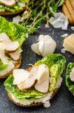 Caesar sallad på paninirostat bröd Royaltyfri Bild