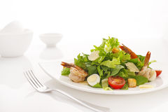 caesar salladräkor Arkivfoto