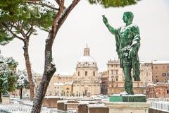 Caesar in sneeuw Stock Foto