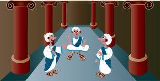 Caesar Throne administrera stock illustrationer