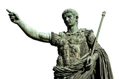 Caesara奥古斯都,古罗马的第一个皇帝 免版税库存图片