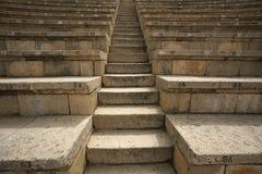 Caesarea amphitheate Israel. Lines rows and Ladder Caesarea amphitheate Israel Stock Photo