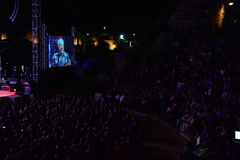 Caesarea Amphitheater, Israel, May 19 - The concert of the musical group Andrei Makarevich ` Stock Image