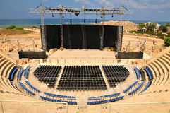 Caesarea amphitheater view. Stock Images