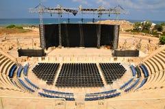 Caesarea amphitheater view. Stock Images