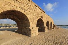 Caesarea-Aquädukt Lizenzfreie Stockfotos